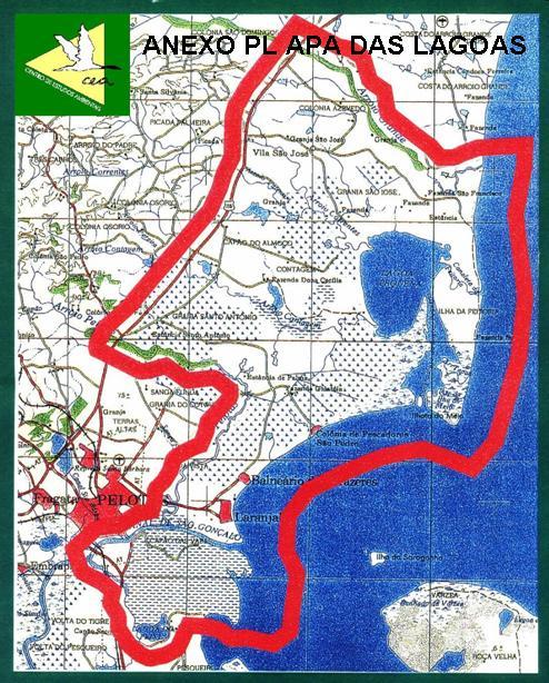 Mapa APA das Lagoas