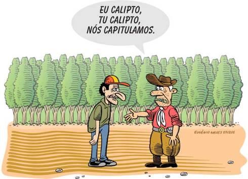 Infelizmente não encontramos fotos de pequenas agricultoras rurais do Pampa. Sendo assim, ilustramos com o humor do Eugenio Neves